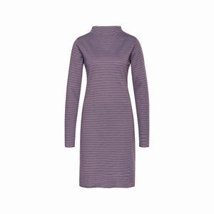 Cyell homewear dress doubleface stripe plum maat 38