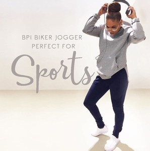 Blue Pepper jogg pants biker style man & vrouw, marine