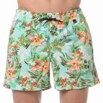 HOM sale beach boxer Hawai multi colour groen M & L