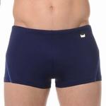 HOM sale swim shorts Sport navy met blauw biesje maat L & XL