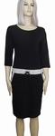 Sensi Wear sale homewear zwarte jurk met bies, maat S