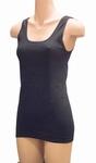 Pompadour dameshemd van biologisch katoen in zwart